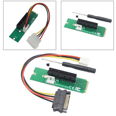 High Speed PCI-e PCIE 4X Card to NGFF M.2 M Key PCIe Slot Adapter +Screwdriver