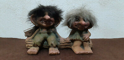 Troll Norvegese Ny Form Nyform 840-175 Coppia Couple Norwegian Norway Fosse