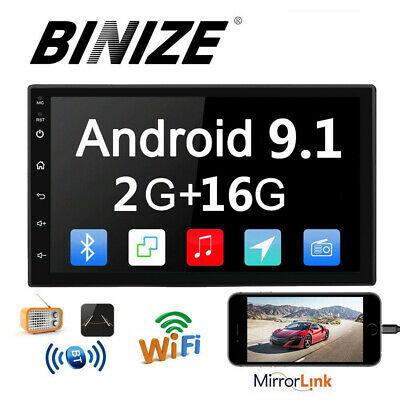 """7"""" 1080P 2Din Android 9.1 Car Stereo Radio GPS Wifi 3G/4G DAB Mirror Link 2+16GB"""