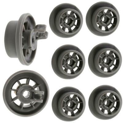 8 Pcs Dishwasher Lower Bottom Roller Basket Wheels For BOSCH NEFF SIEMENS 165314