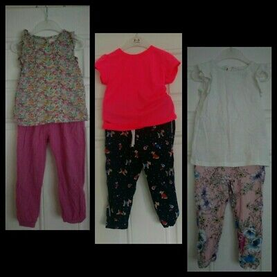 Girls Outfits Bundle Next Tops And TU/Gap Trousers 2-3 Years