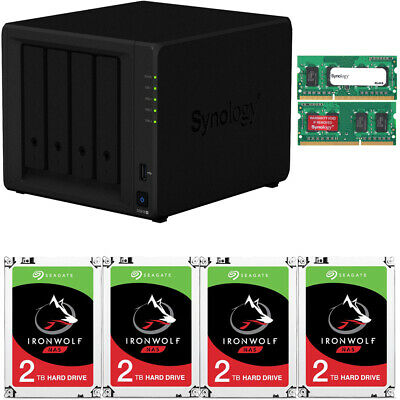 Synology DS918+ DiskStation 8GB RAM 8TB (4 x 2TB) Seagate Ironwolf NAS Drives