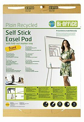 Bi-Office Earth - Bloc de Papel Reciclado para Pizarra Rotafolios, Papel Autoad