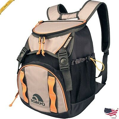 Insulated Backpack Cooler Food Cold Beer Camping Hiking Hunting Leak Resistant