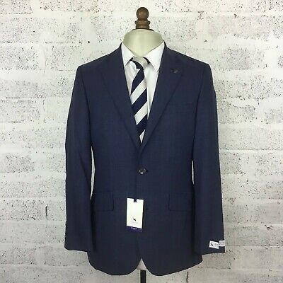 Chester Barrie Airforce Plainweave Blue Suit Jacket Tailored Fit RRP225 Size 38R