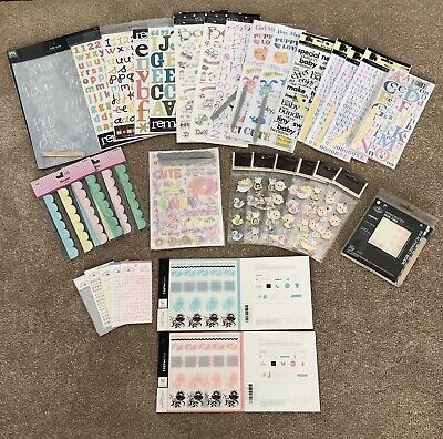 Craft Bundle Of Mixed Lot Of Embellishments Baby Themed - Assorted *LOT 9*