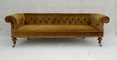FABULOUS LARGE VICTORIAN EDWARDIAN ANTIQUE CHESTERFIELD SOFA c1890