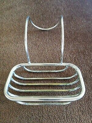 Vintage Hanging solid Brass Wire Basket claw foot Tub over edge soap holder #2