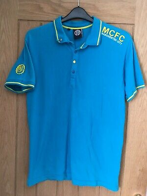 Manchester City F.C. Mens Polo Shirt Size Large - VGC