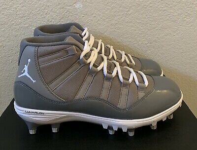 check out 1c869 eb618 NIKE AIR JORDAN Retro 11 TD High Cool Grey Cleats Size 10.5 New With Box