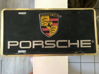 Plaque Immatriculation Porsche Métal / Porsche License Plate Metal Black