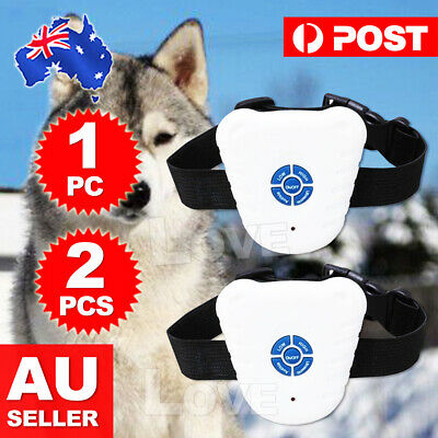 1x Bark Stop Ultrasonic Anti Barking Control Pet Brand New Dog Training Collar