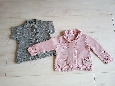 Next pink and John Roca Grey Beautiful Girls 2 Cardigan Age 2 Fab!