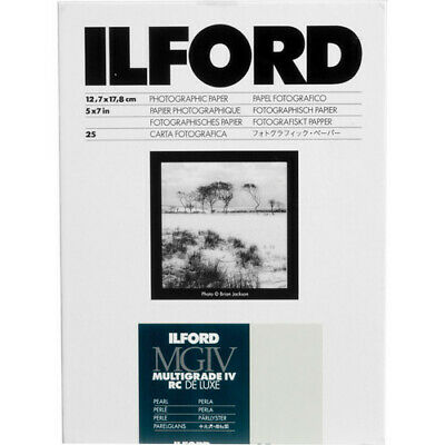 "Ilford Multigrade IV RC DeLuxe Paper (Pearl, 5 x 7"", 25 Sheets)"