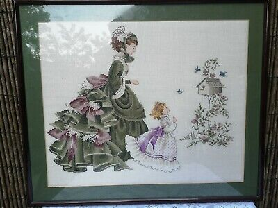 Vintage Embroidered tapestry with frame