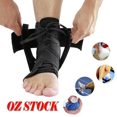 Deluxe Quality Ankle Stabilizer Support Brace Sprain Instablity Au