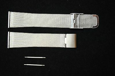 18mm Compatible With Skagen Stainless Steel Mesh Watch Band W/2 SPRING BARS