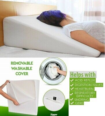 Wedge Foam Pillow Orthopedic Acid Reflux Heartburn Back Support Or Printed Cover