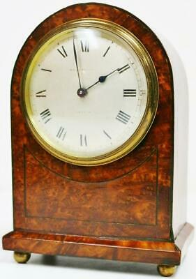 Beautiful Antique French 8 Day Amboyna Mantel Carriage Clock Platform Escapement