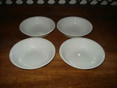 "Set of 4~Corelle~Winter Frost White~Berry~Dessert Bowls~5 3/8"" Diameter"