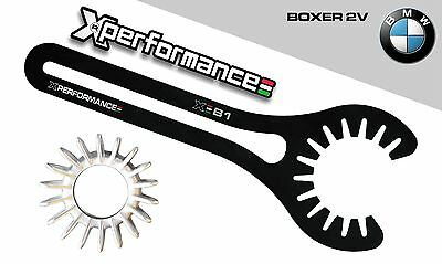 Chiave Ghiera Scarico  Collettore Marmitta Bmw 2V Boxer R100 Gs S R Rs Rt Cs Pd