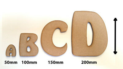 Wooden Letters Decoration Craft Shape Toy Box Name 50-200mm Arfmoo font #221