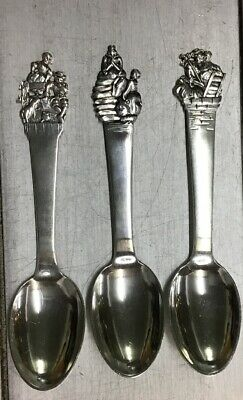 Antique Danish .830 Fairy Tale Silver Spoons By W.S. Sorensen