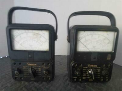 Two (2) Simpson 260 Vacuum Tube Volt-Ohmmeter  Pre-Owned For Parts