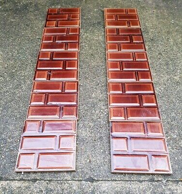 Stunning Original Late Edwardian Fireplace Tiles - Brown Brick - VERY RARE