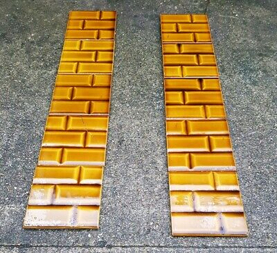 Stunning Original Edwardian Fireplace Tiles - Brown Brick - VERY RARE