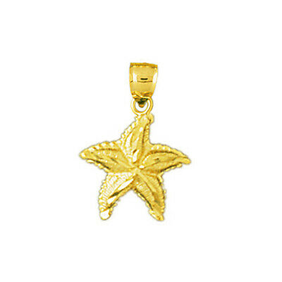 New Solid 14K Gold Small Starfish Charm 0.9 Grams