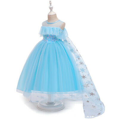 Kids Long Tutu Dress Girls Princess Party Prom Halloween Cosplay Costumes Gowns