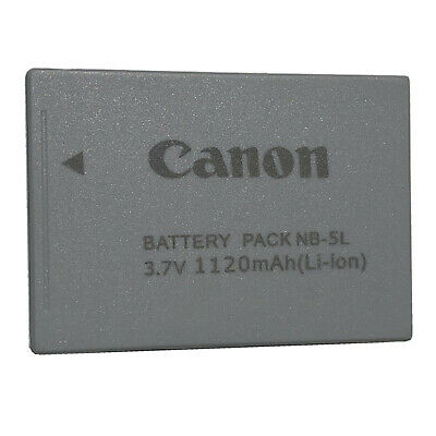OEM Canon Genuine Original NB-5L Li-ion Digital Camera Battery Pack 3.7V 1120mAh