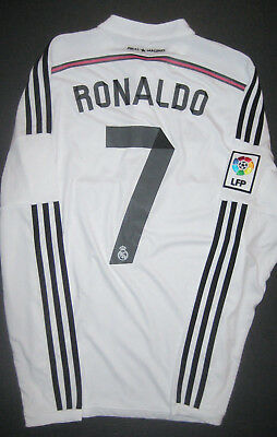 best authentic 5d7df 6d4dc 2014/2015 ADIDAS REAL Madrid Cristiano Ronaldo Long Sleeve Jersey Shirt Home