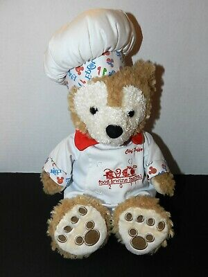 Disney Plush Chef Duffy Bear Epcot Food & Wine Festival 2011 Out Of Print