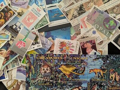 $105+ In Face Value Of Australian Mixed Mint Postage Stamps FREE POST