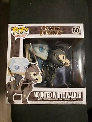 Funko Pop Game Of Thrones Mounted White Walker NEW - NON - gitd
