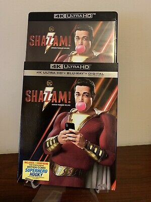 Shazam (4K UHD/Blu-ray, Slipcover 2019) Mint Condition