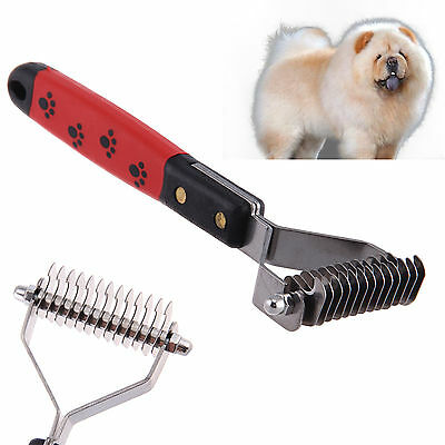 Pet Dog Cat Product Hair Fur Shedding Trimmer Grooming Dematting Rake Comb Brush