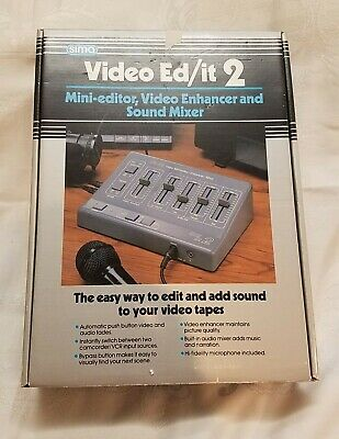Sima Video Ed/it 2 Video Editor, Enhancer and Sound Mixer Brand New!