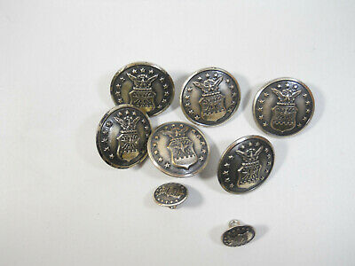 Nice  Vintage Lot Metal Military Button Silver tone