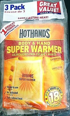 HotHands SUPER Hand and Body Warmers 3 Pack deal Safe Natural Odorless Heat