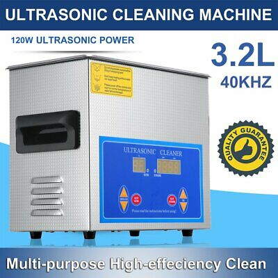 3.2L Liter Stainless Steel Industry Heated Ultrasonic Cleaner Heater Timer WF