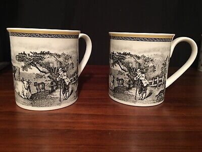 Set of Two Villeroy & Both Audun Ferme Coffee/Tea Cup Mugs Mint Condition