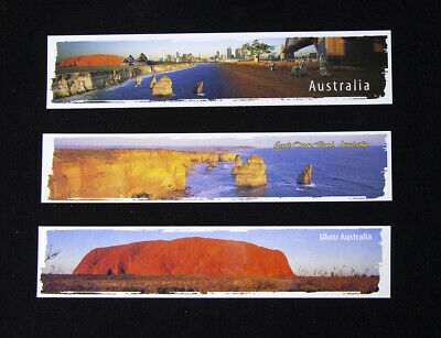 3 x Bookmarks Uluru, Great Ocean Road and Australia