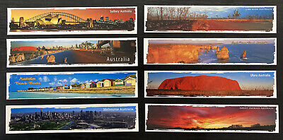6 x Bookmarks Uluru, Great Ocean Road, Whitehaven Beach and 3 more
