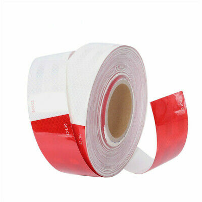 "2""x150' DOT-C2 Approved Reflective Red White Conspicuity Warning Tape Trailer -1"