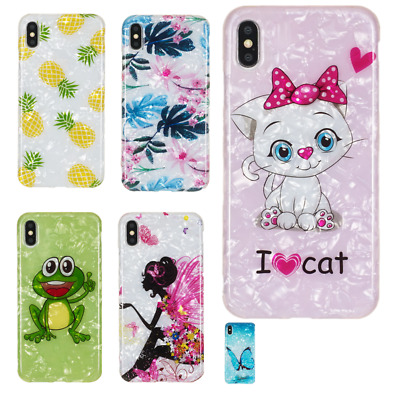 Cat Frog Pattern Soft Case Cover For iPhone XS MAX XR 7 8 Plus iPod Touch 5/6th