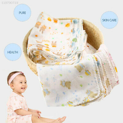 1Pcs Baby NewBorn Boys Girls Gauze Muslin Square Bath Wash Cloths Bibs Towel