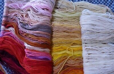 Bulk Lot of Tapestry Wool RED / CREAM / YELLOW / ETC COLLECTION 700 plus strands